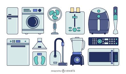 conjunto de colección de electrodomésticos