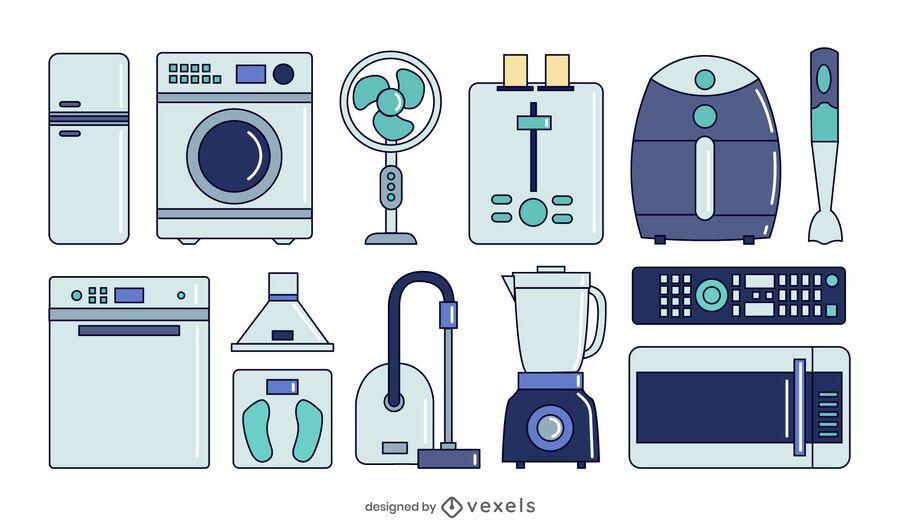 home appliances collection set