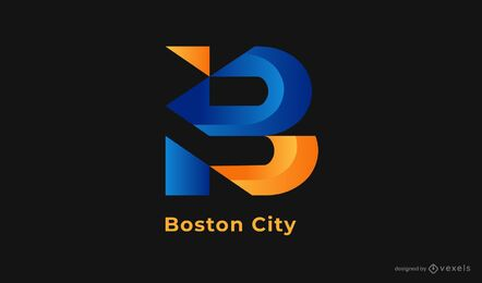 design de logotipo da cidade de boston