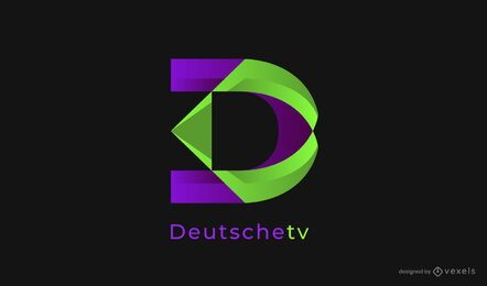 design de logotipo de tv deutsche
