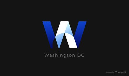 design de logotipo de washington dc