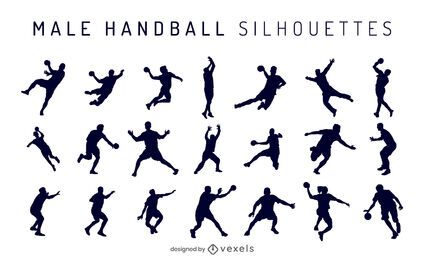 Male Handball Silhouette Pack