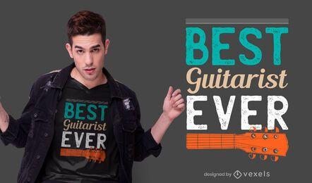 melhor guitarrista já design de t-shirt