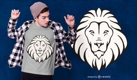 Diseño de camiseta Lion Leo