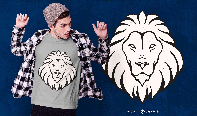 Lion Leo T-shirt Design