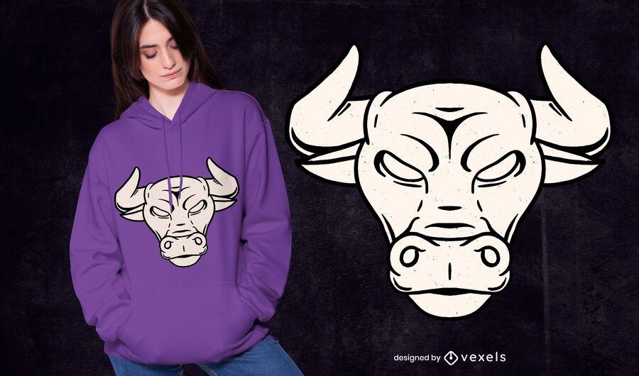 Design de t-shirt de touro touro