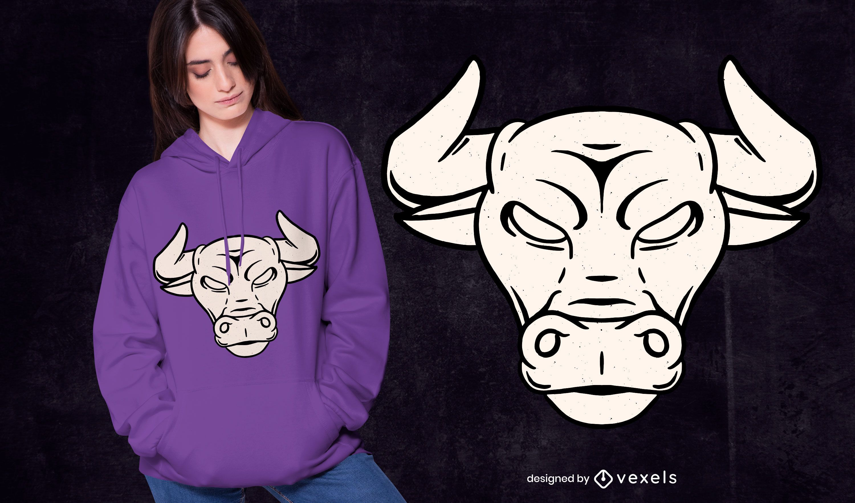 Diseño de camiseta Taurus Bull