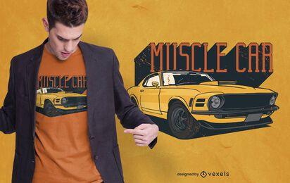 design de camiseta muscle car