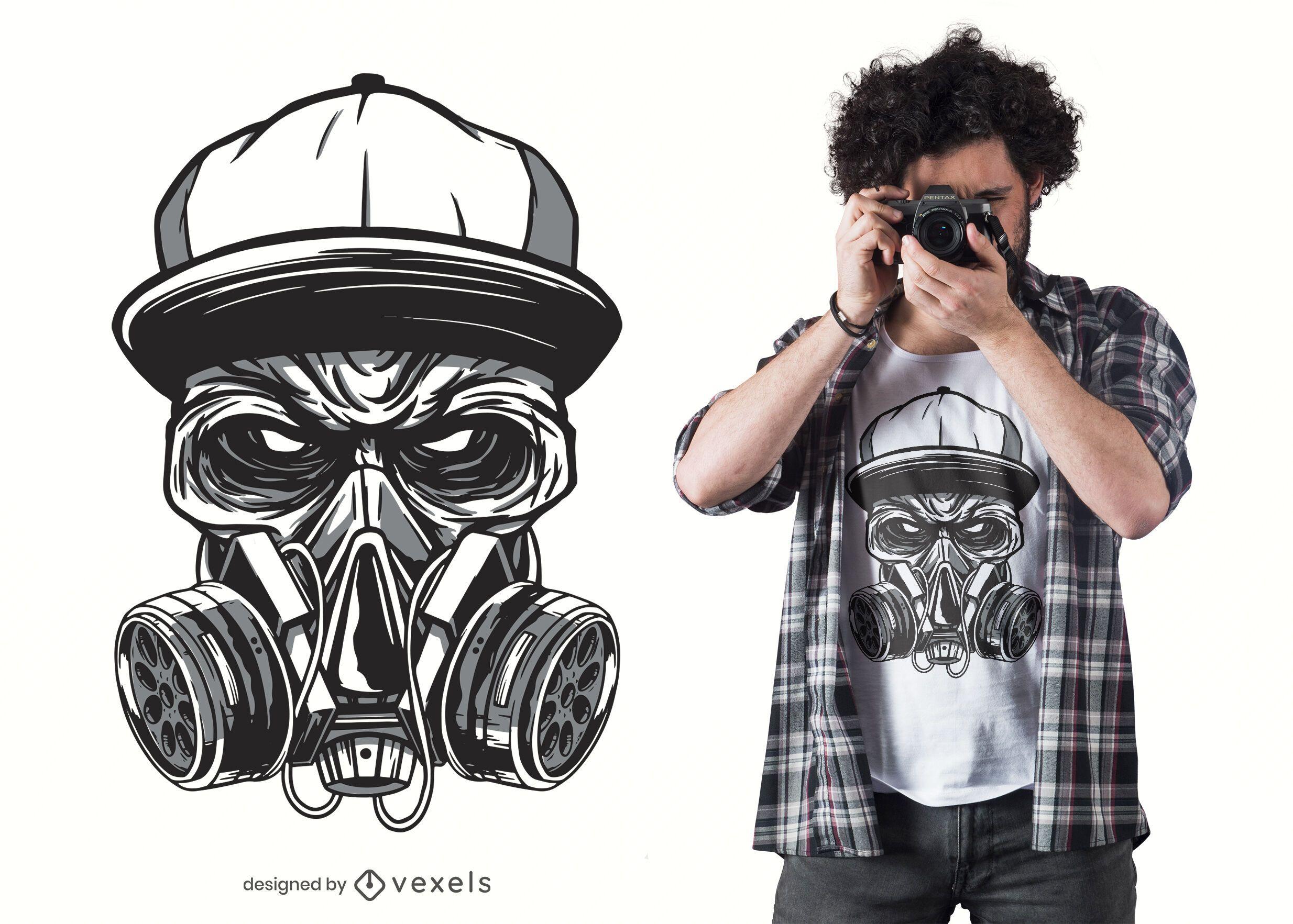 Dise?o de camiseta Gas Mask Zombie