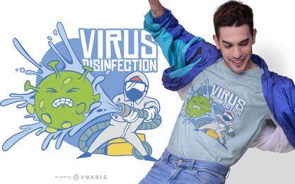 Diseño de camiseta de desinfección de virus