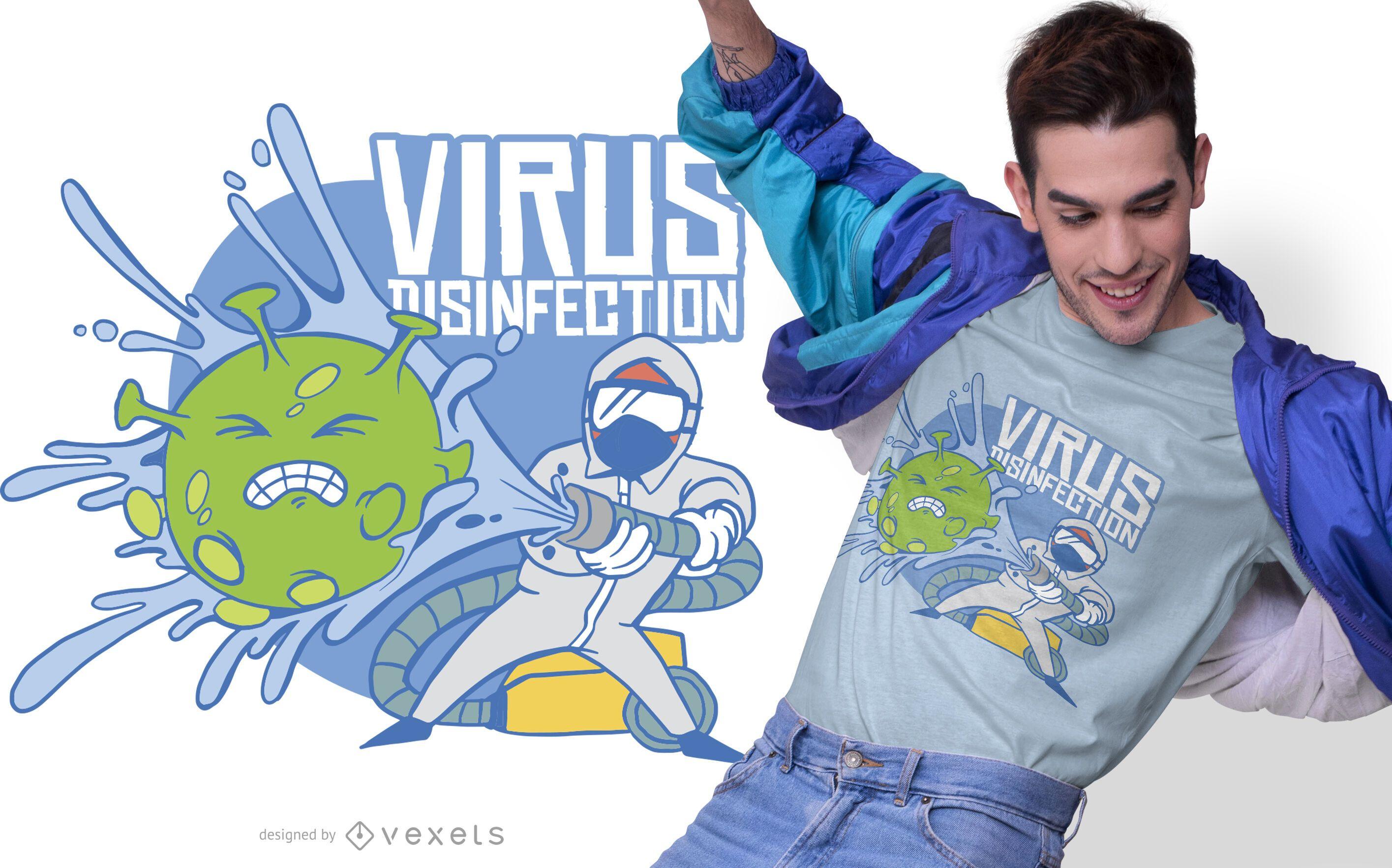Dise?o de camiseta de desinfecci?n de virus