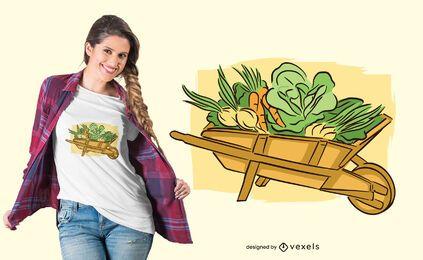 Diseño de camiseta de jardinería vegetal