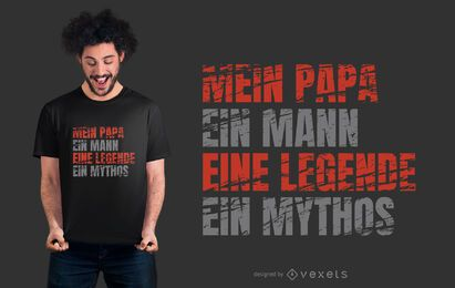 Diseño de camiseta Dad German Text