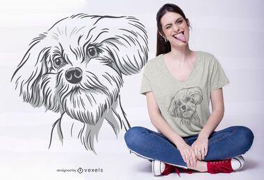 Design legal do t-shirt da ilustração do cão