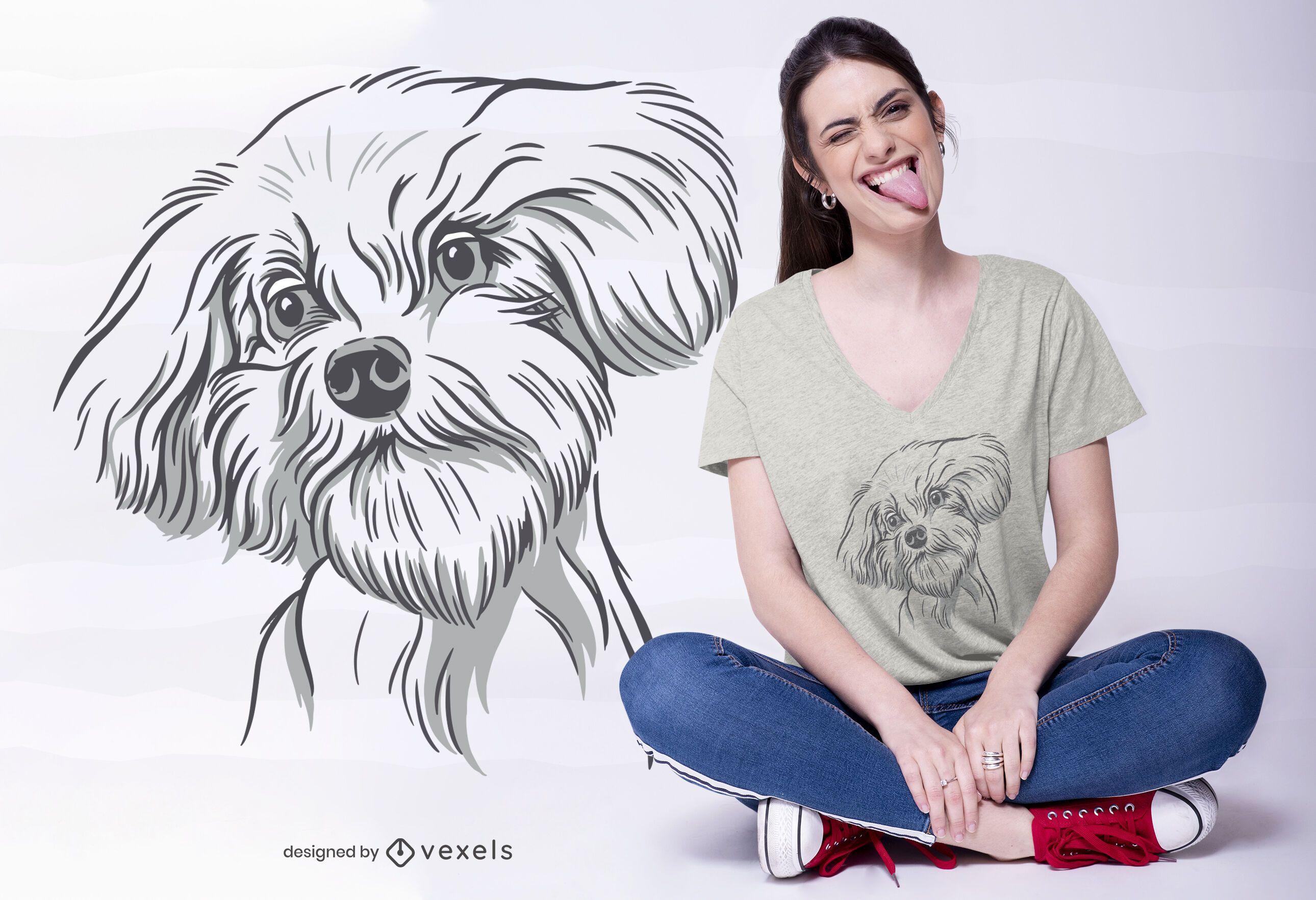 Cool Dog Illustration T-shirt Design
