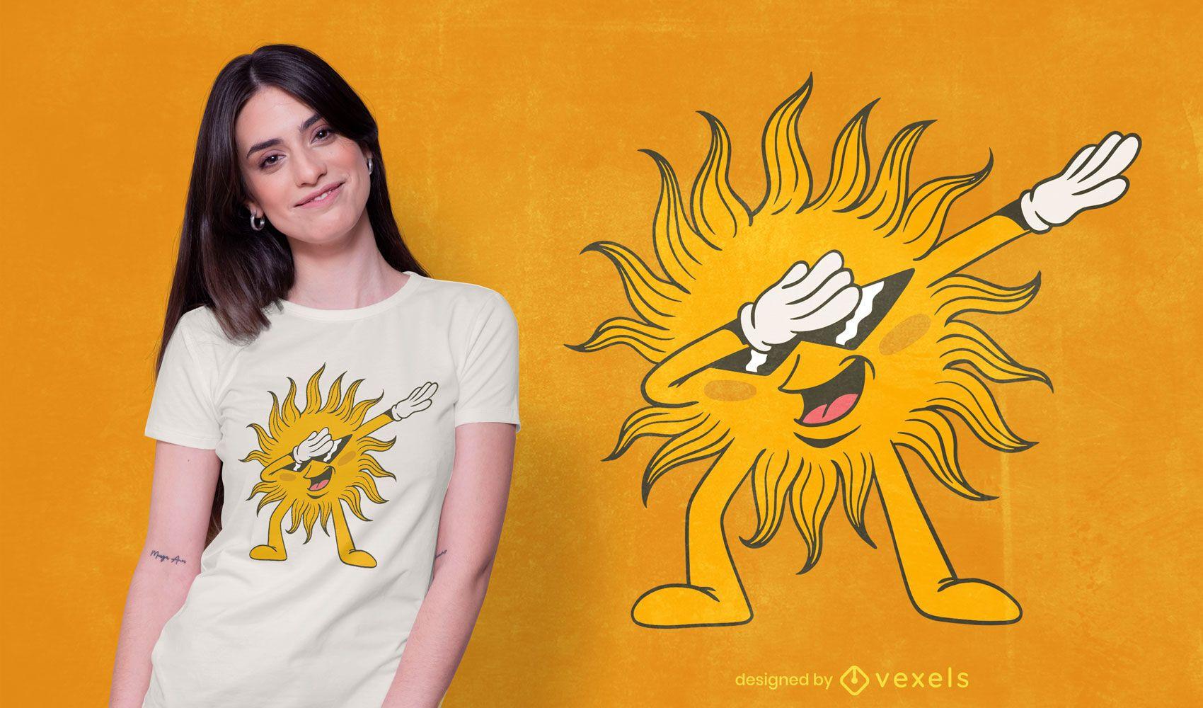 Diseño de camiseta Dabbing Sun