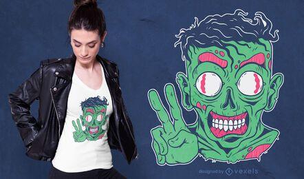 Diseño de camiseta amigable Zombie