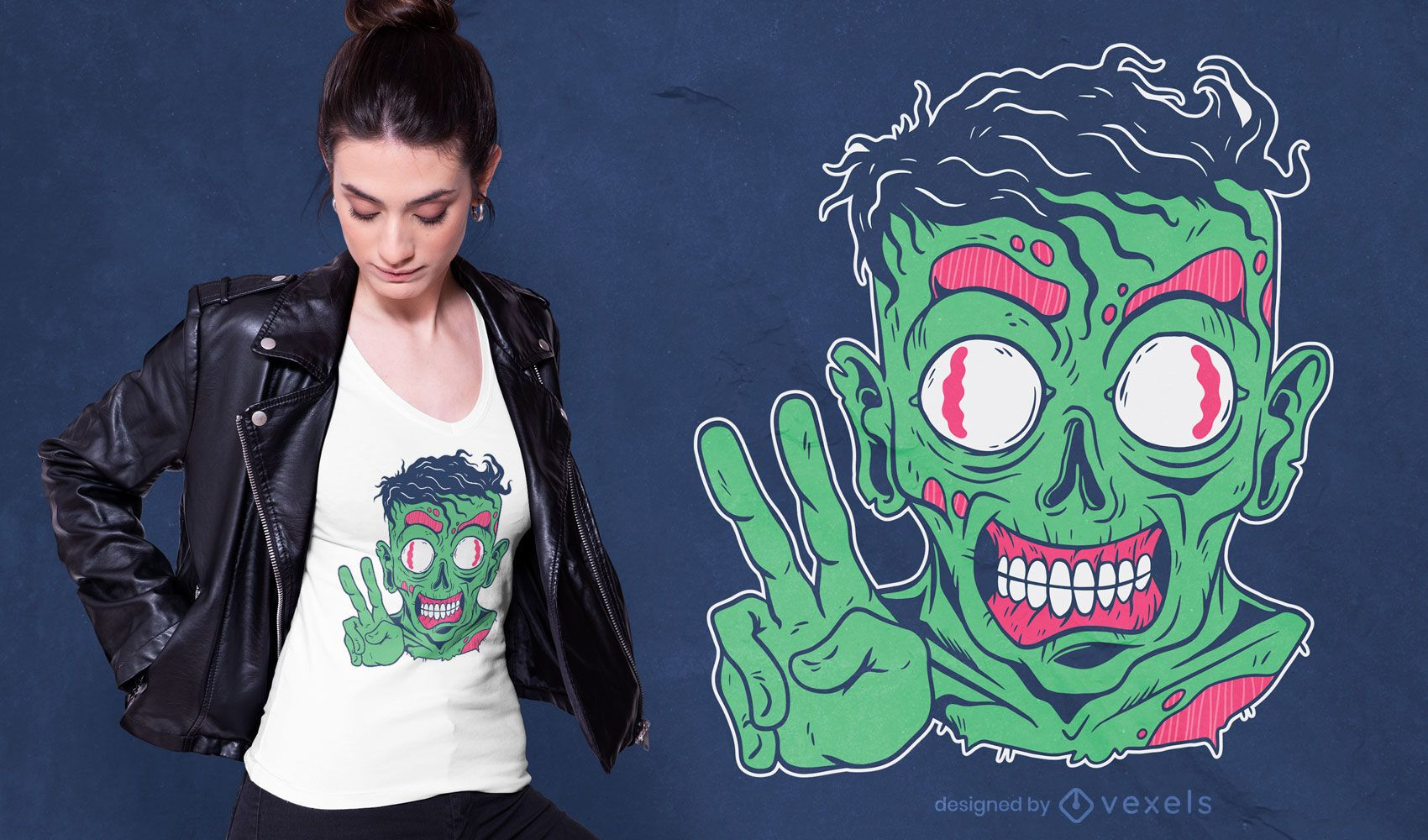 Design amigável de camisetas Zombie