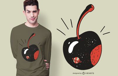 Design de camiseta Galaxy Cherry
