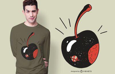Diseño de camiseta Galaxy Cherry