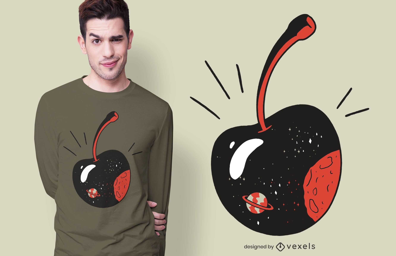 Galaxy Cherry T-shirt Design