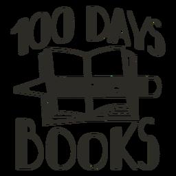 100 dias em livros letras da escola