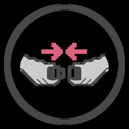 Símbolo de cinturón de seguridad con hebilla a bordo