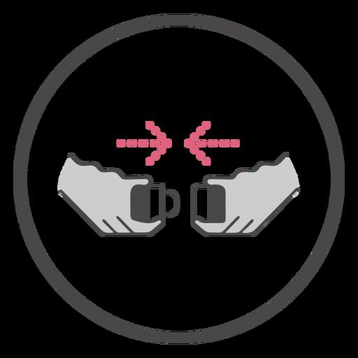 Símbolo del cinturón de seguridad a bordo de la hebilla Transparent PNG