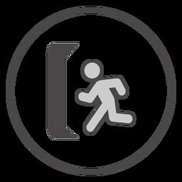 Aboard exit symbol