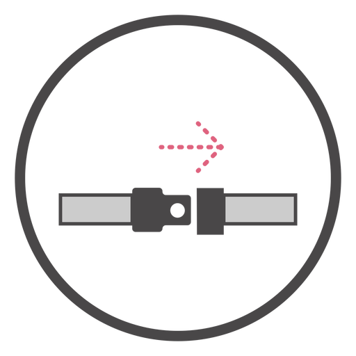 Símbolo del cinturón de seguridad a bordo Transparent PNG