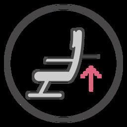 Símbolo de la bandeja del asiento a bordo