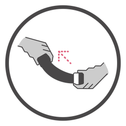 Aboard tighten seat belt symbol