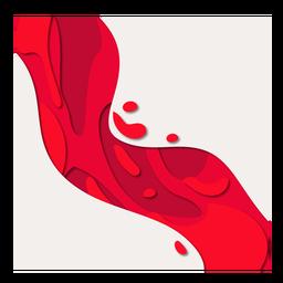 Diagonal abstracta de papercut de sangre roja