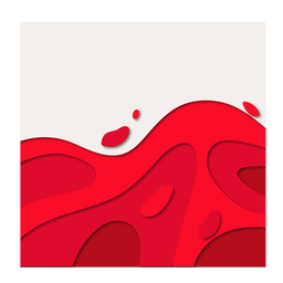 Abstract red blood papercut wave