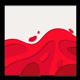 Ola de papercut de sangre roja abstracta