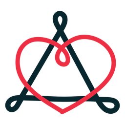 Adoption symbol triangle heart loop
