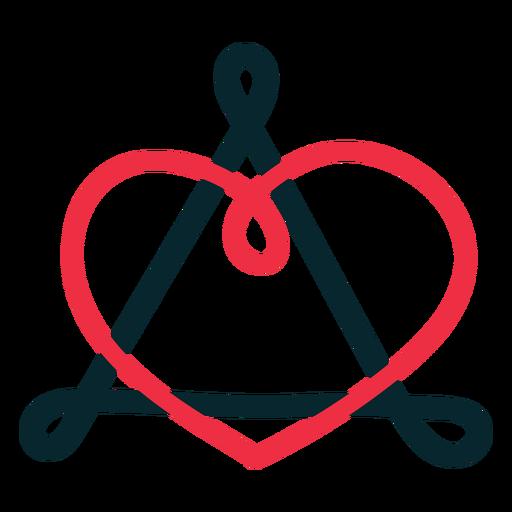 Adopción símbolo triángulo corazón lazo