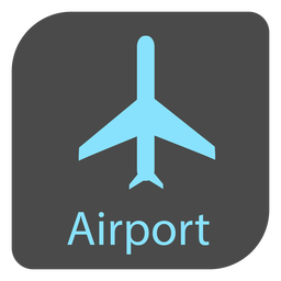 Ícone de sinal de aeroporto de avião
