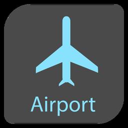 Icono de signo de aeropuerto de avión