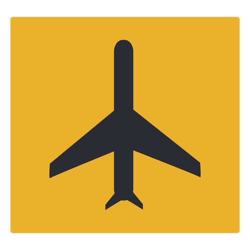 Airplane icon sign