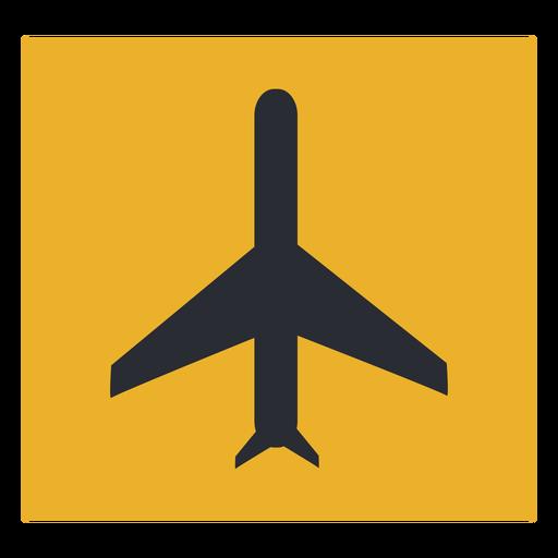 Signo de icono de avión