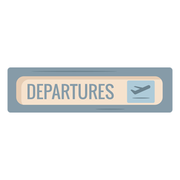 Airport departures sign icon flat