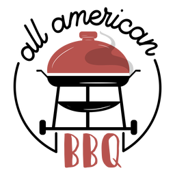 All american bbq grill lettering
