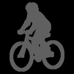 Silueta ciclista angulada