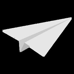 Avião de papel angular plano