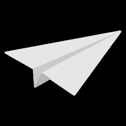 Avión de papel en ángulo plano Transparent PNG