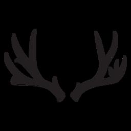 Antler deer silhouette deer