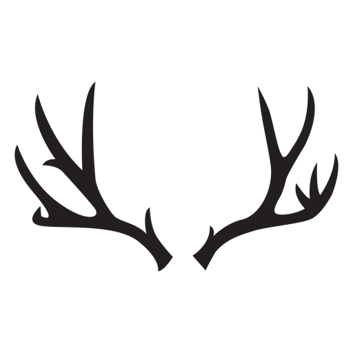 Ciervo cornamenta silueta ciervo