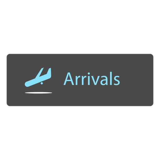 Arrival airport sign icon