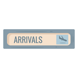 Arrivals airport sign icon